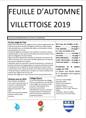 Feuille d'automne Villettoise 2019